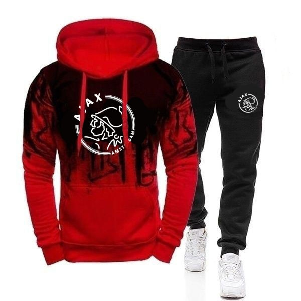 Casual Tracksuit Men 2 Pieces Sets Hooded Sweatshirts Spring Men's Clothes Pullover Hoodies Pants Suit male Hombre M-3XL
