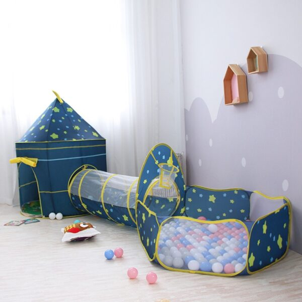 3 in 1 Children Tent House Toy Ball Pool Portable Children Tipi Tents Crawling Tunnel Pool Ball Pit House Kids Removable Tent