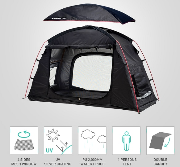 1 Person Folding Off The Ground Camping Sleeping Bed tent cot,Camping cot Bed Tent,CZ-336 Camping tent build on cot or use alone