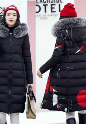 2020 New Women Parkas Winter Jacket Fur Collar Hooded Overcoat Doubble-side Jacket Warm Thicken Cotton Padded Parka Long Coat