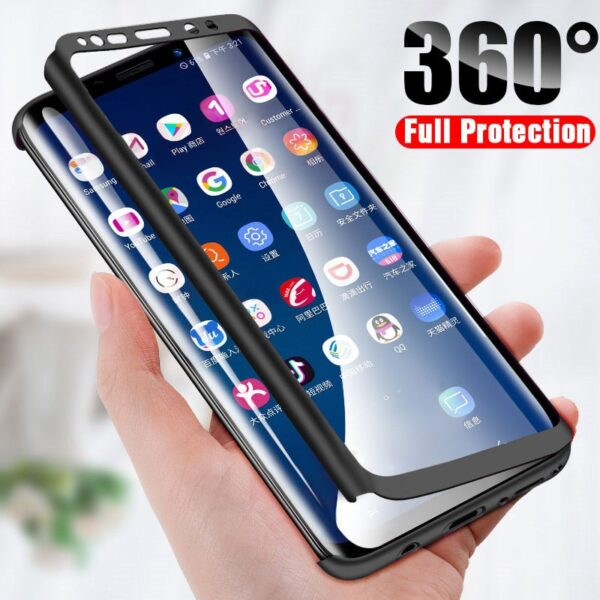 360 Degree Phone Case For Samsung Galaxy A10 A40 A50 A60 A70 A10S A10E A20 A20S A20E A30 A30S A50S A80S With Glass Screen Cover