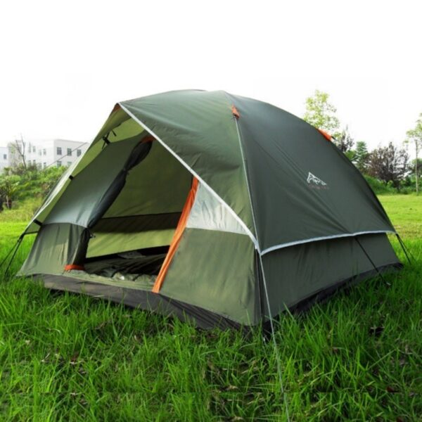 Waterproof Camping Hiking Fishing Tent Separated Dual Layer Travel Tent 4 Season Anti UV Beach Tent for 3-4 Person Family