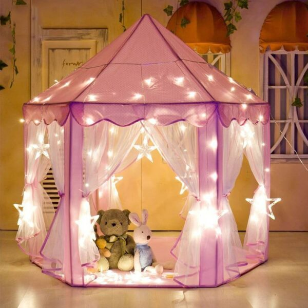 Portable Kids Toy Tipi Tent Ball Pool Princess Girl Castle Play House Children Small House Folding Playtent Baby Beach Tent