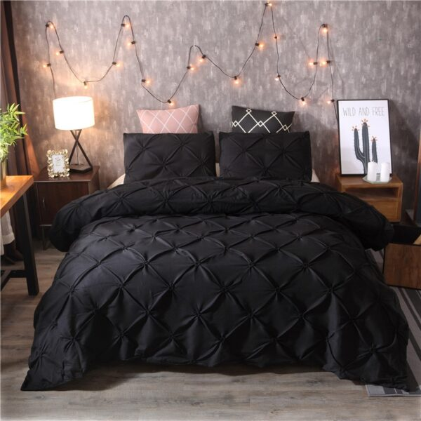Duvet Cover Sets Bedding Set Luxury bedspreads Bed Set black White King double bed comforters No Sheet