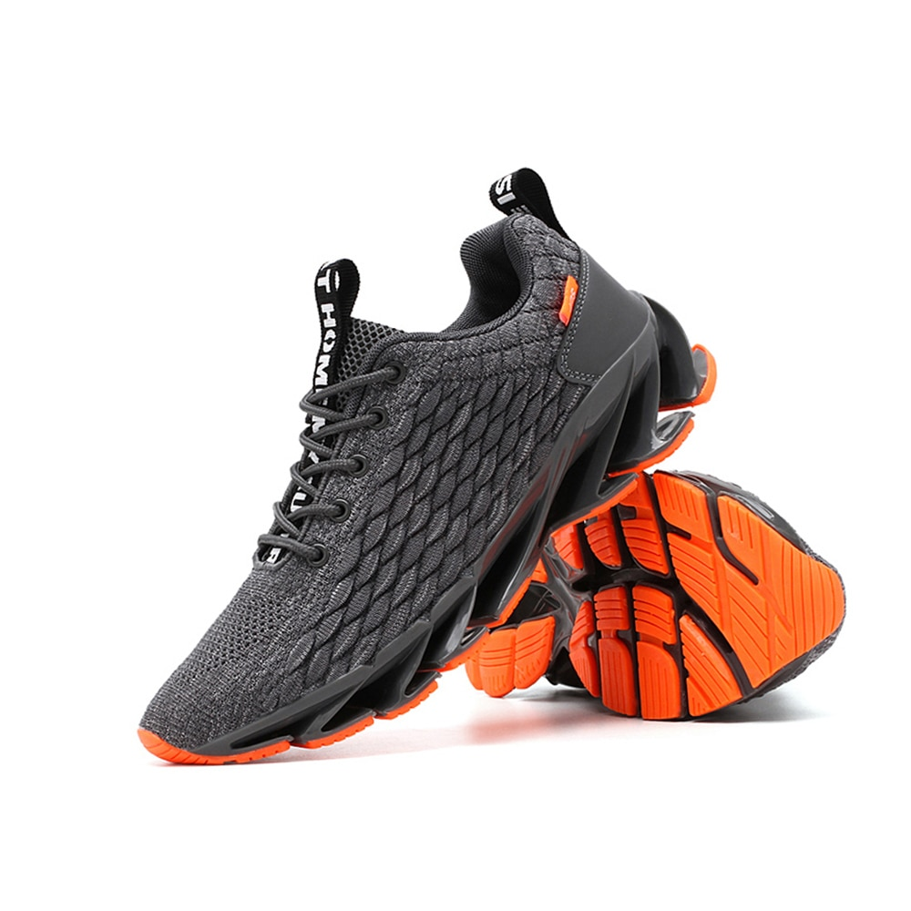 2020 Spring New Fish Scale Blade Casual Lace-up Comfortable Sports Men Breathable Gym Fly Running Mesh Fashion Shoes Sneakers