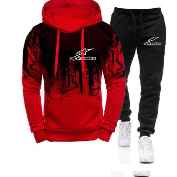 Alpinestars Clothing Men's Fashion Tracksuit Casual Sportsuit Men Hoodies Sweatshirts Sportswear Star print Hoodies+Pant Men Set