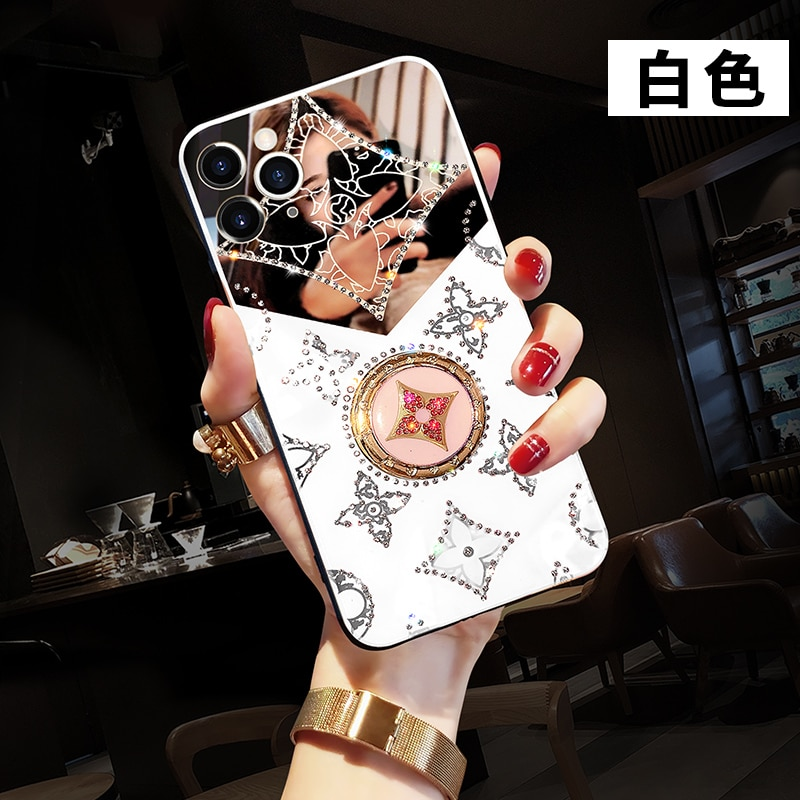 Original luxury diamond finger ring kickstand shock proof phone case for iphone 12 pro max 11 x xr xsmax 7 8plus cover case